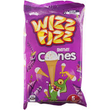 Wizz Fizz Sherbet Cones 5pk 70g