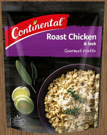 Continental Side Dish Roast Chicken & Leek Risotto 115g