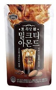 Hạnh nhân vị Trà sữa đường đen Murgerbon Hàn Quốc 180g