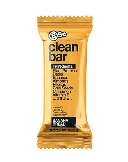 Body Science Clean Plant Protein Bar Banana Bread 50g