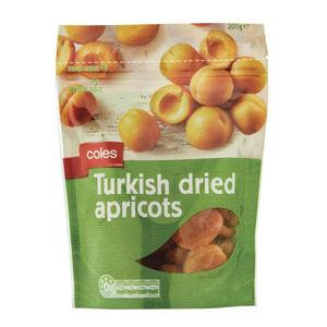 Coles Turkish Dried Apricots 200g