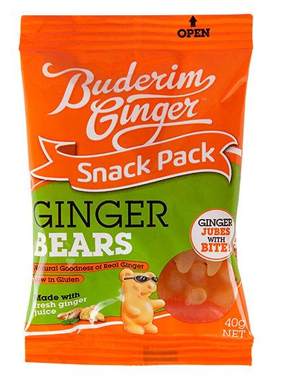 Buderim Ginger Bears Snack Pack 40g