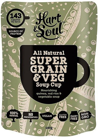 Hart & Soul All Natural Super Grain & Veg Soup Cup 100g