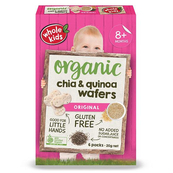 Whole Kids Organic Chia Quinoa Wafers 6 pack