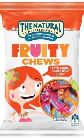The Natural Confectionery Co. Fruity Chews 220g bag