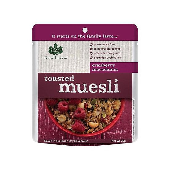 Brookfarm Muesli - Toasted Macadamia Muesli Sachet With Cranberries 75g