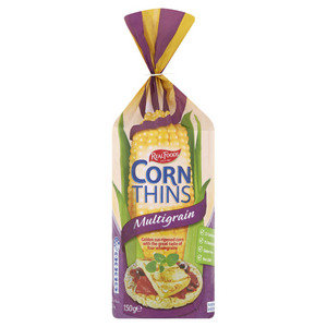 Real Foods Multigrain Corn Thins 150g
