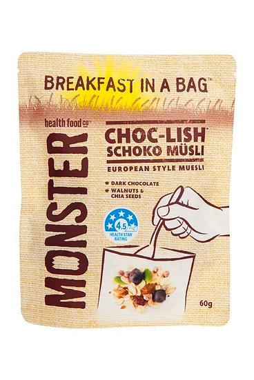 Wheat Free Muesli - Breakfast in a Bag - Monster Choc-Lish 60g