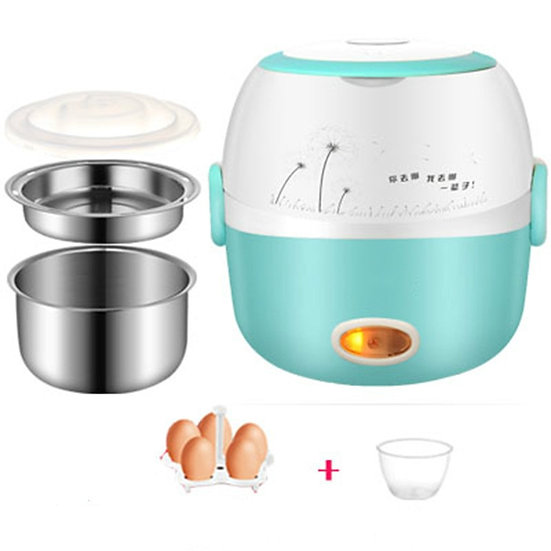 MINI Rice Cooker Insulation Electric Lunch Box 2 Layers Steamer Multifunction