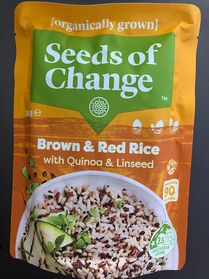 Seeds Of Change Brown & Red Rice With Quinoa & Linseed Pouch 240g