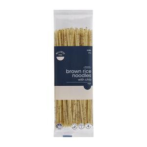 Wellness Road Organic Brown Rice Noodles With Chia Brown Gluten Free 225g