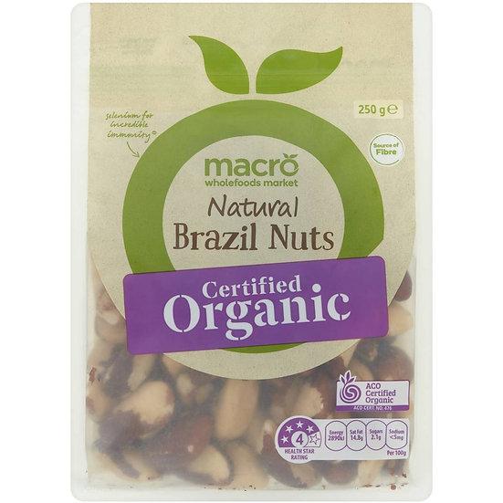 Macro Organic Brazil Nuts Brazil Nuts 250g