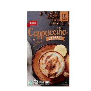 Classic Cappuccino Coffee Sachets 10 Pack