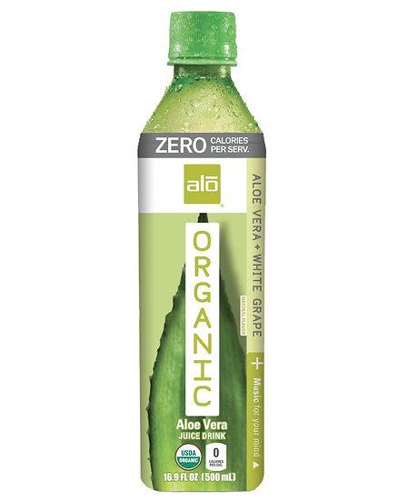 ALO Organic Zero Aloe Vera & White Grape 5 x 500ml