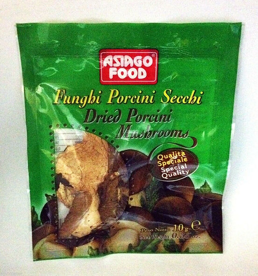 Asiago Food Dried Porcini Mushrooms Fungi for Soup Pasta Risotto 10g
