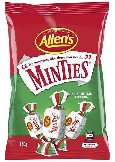 Allen's Minties Mint Chew Lollies Bag 150g