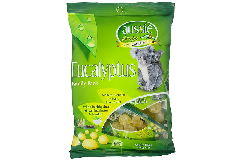 Aussie Drops Eucalyptus Share Pack 150g bag