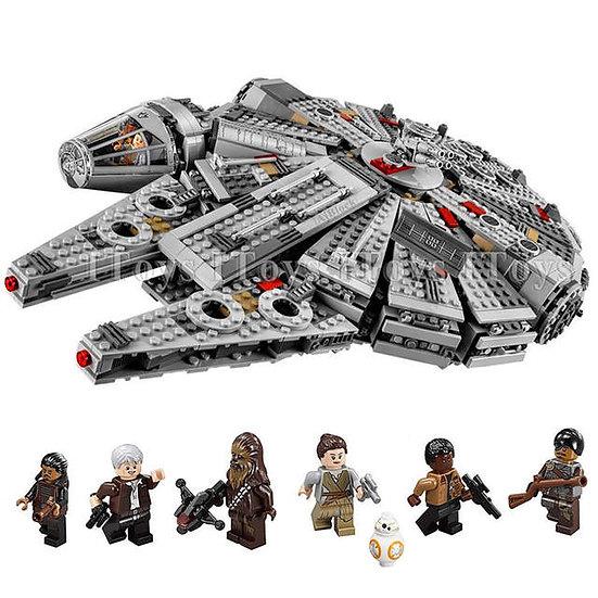 Star Millennium Falcon Figures Wars Building Blocks