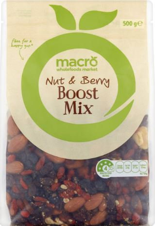 Macro Nuts & Berry Boost Mix 500g