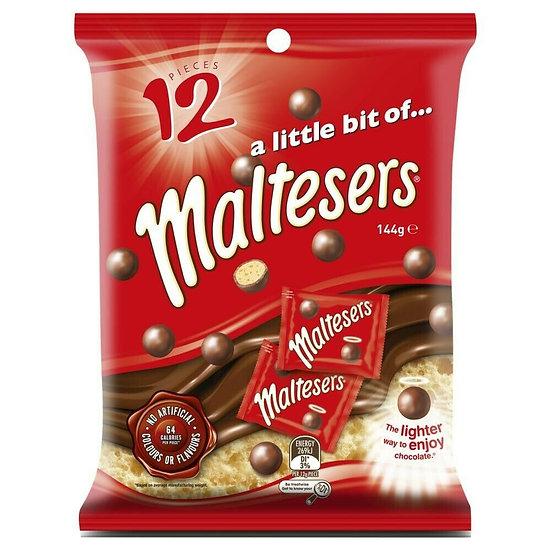 Maltesers Milk Chocolate Party Share Bag Medium 12 Piece Pack 144g