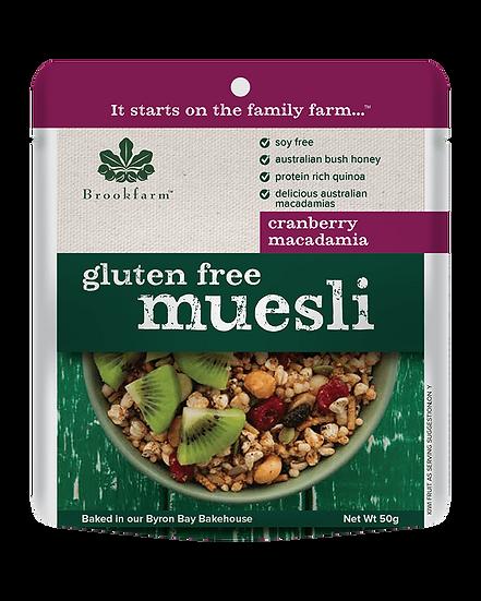 Gluten Free Macadamia Muesli with Cranberry 50g
