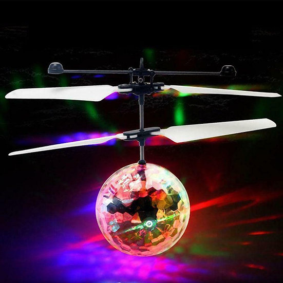 2 Channel Induced Helicopter Aerocraft Dazzling Fly Sensor Ball