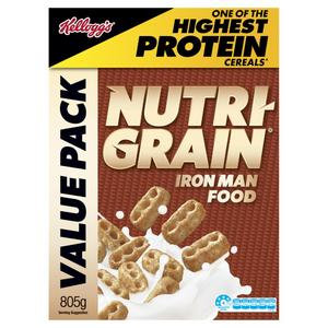 Kellogg's Nutri-Grain Protein Breakfast Cereal Value Pack 805g