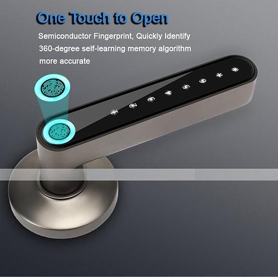 Smart Biometric fingerprint lock Code Bluetooth Key Electric Handle USB Battery