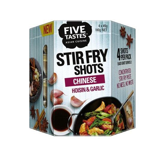 Five Tastes Stir Fry Shots Chinese Hoisin & Garlic 4x45g