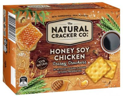 The Natural Cracker Co. Honey Soy Chicken Crispy Crackers 160g
