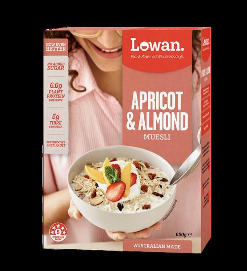 Lowan Muesli Apricot & Almond 650g