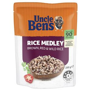 Uncle Ben's Microwave Brown Red Wild Rice Medley 250g