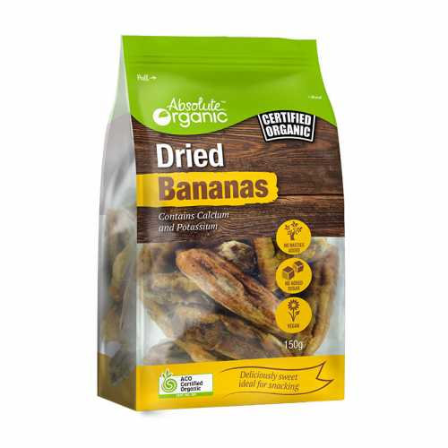 Organic dried bananas 150g