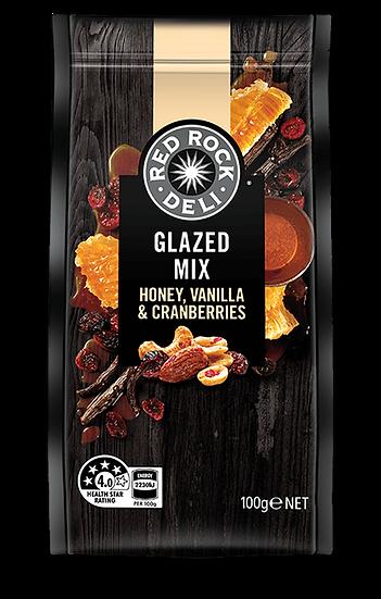 Red Rock Deli Honey Vanilla & Cranberries Glazed Mix 100g
