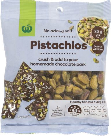 80g Hạt dẻ cười Pistachios nuts for cake, ice cream, dessert healthy snack