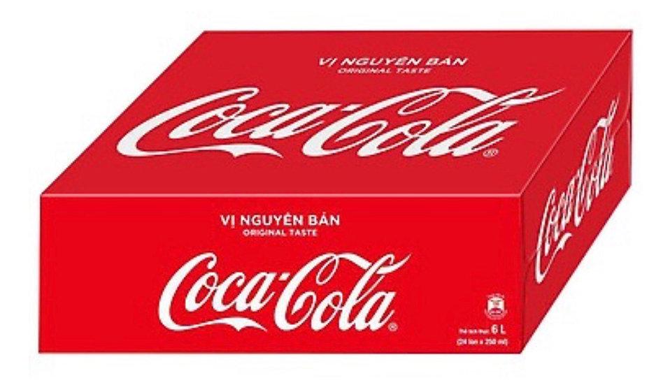 Thùng 24 lon nước ngọt Coca Cola 330ml
