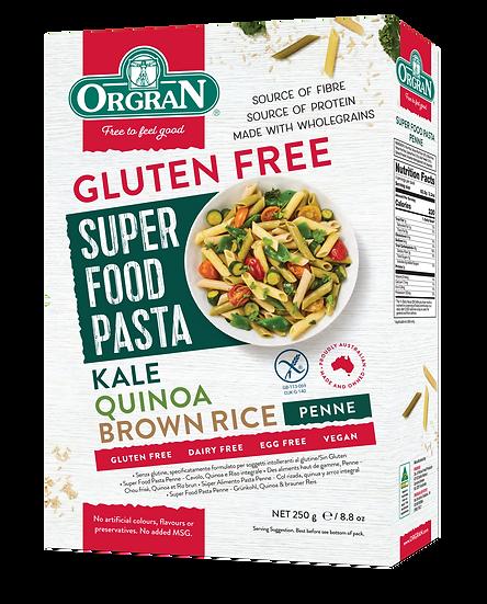 Organ Super Food Pasta Penne Kale Quinoa & Brown Rice 250g