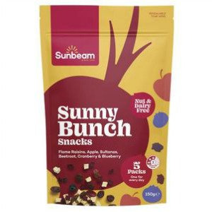 Sunbeam Sunny Bunch Snacks with Beetroot, Cranberry & Blueberry 150g