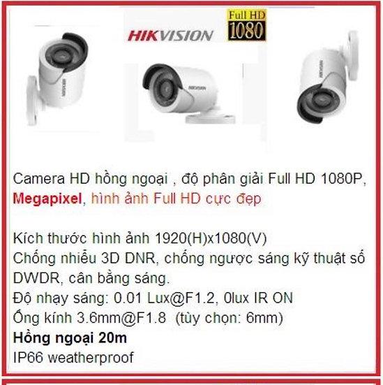 Camera hikvision  ( 2M) LOẠI CHẠY TẤT CẢ ĐẦU GHI