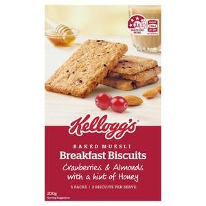 Kellogg's Baked Muesli Breakfast Biscuits With Cranberries Almonds