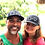 Kellie Rasberry and Allen Evans model snap back caps
