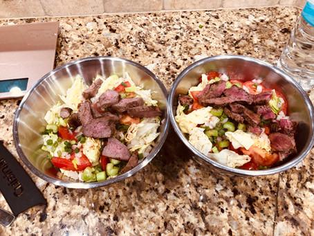 Chef Alanzo's Healthy Steak Salad