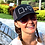 Kellie Rasberry wearing podcast snap back cap