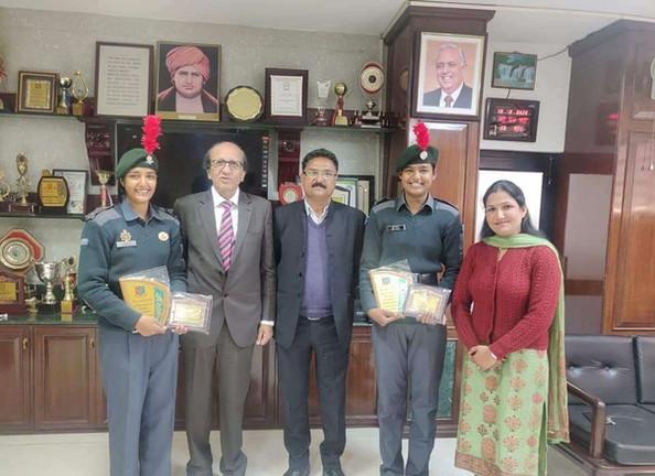 Cadet Tanu Jarwal and Cadet Gunjan Participated in RDC New Delhi 2020