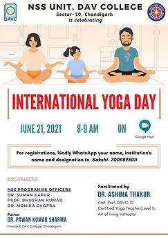International Yoga Day Celebrations- NSS DAV College Chandiarh