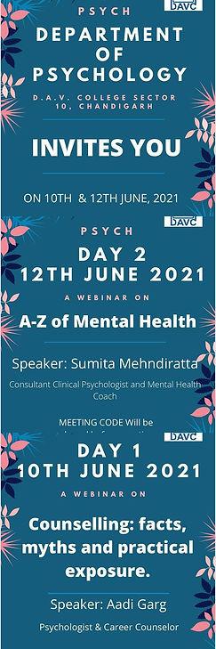 2 Days Virtual Seminar of Dept. of Psychology