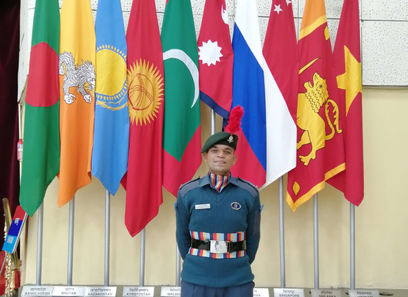 LFC Animesh Singh Chauhan Particpated in Republic Day camp 2021 at New Delhi