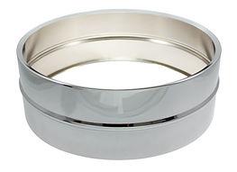 Steel snare drum shell chroom 14x5.JPG