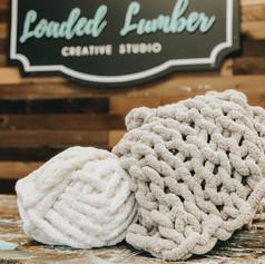 Chunky Knit Blanket, $85