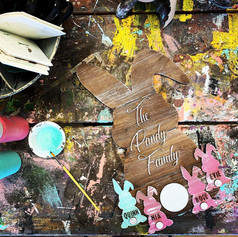 3D Family Bunny Sign, $45